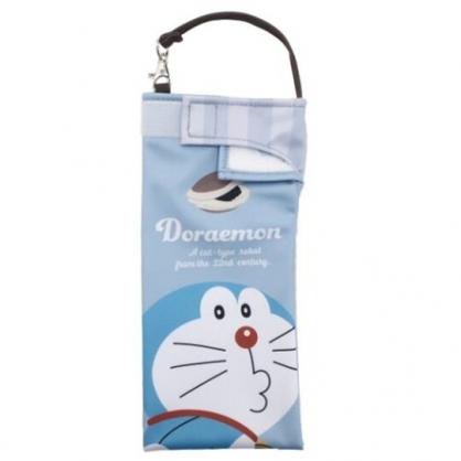 小禮堂 哆啦A夢 尼龍吸水速乾折傘套 雨傘收納袋 傘袋 水壺袋 (藍 嘟嘴)