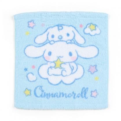 小禮堂 大耳狗 純棉無捻紗短毛巾 純棉毛巾 方形毛巾 34x36cm (藍 朋友)