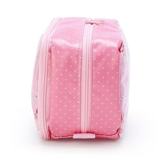小禮堂 美樂蒂 防水雙層掀蓋拉鍊筆袋 防水筆袋 鉛筆盒 盥洗包 (粉 花朵)