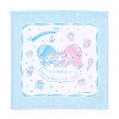 小禮堂 雙子星 純棉割絨短毛巾 純棉毛巾 方形毛巾 34x35cm  (藍 45週年)