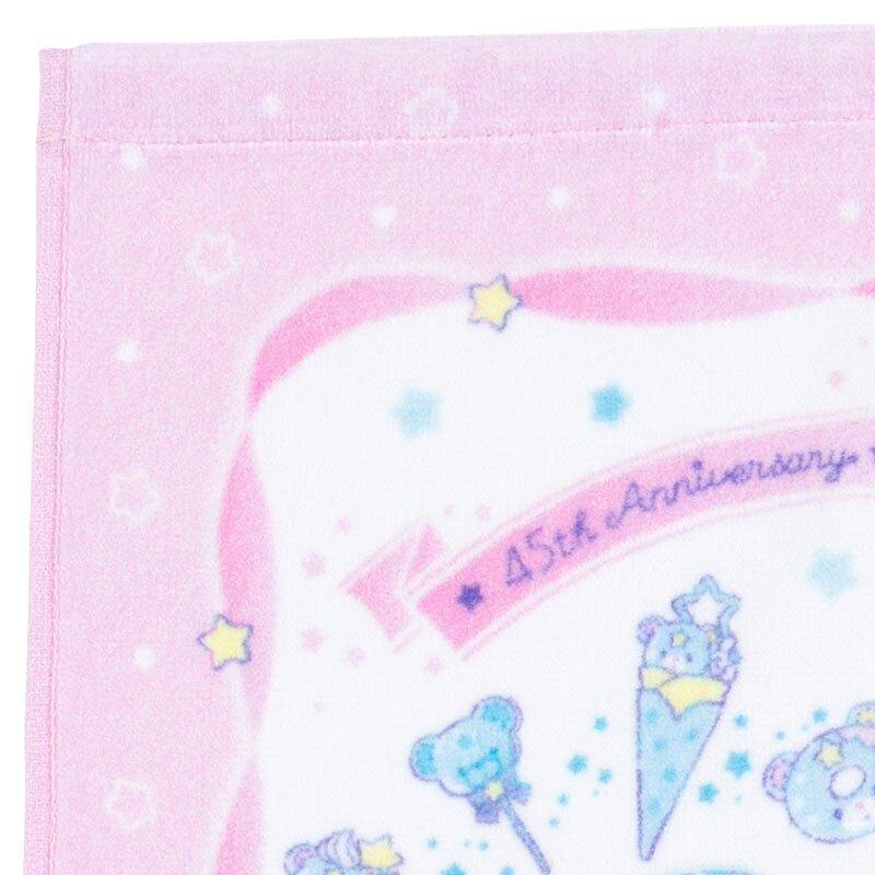 小禮堂 雙子星 純棉割絨短毛巾 純棉毛巾 方形毛巾 34x35cm  (粉 45週年)