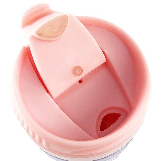 小禮堂 Hello Kitty 隨身冷水瓶 運動水壺 塑膠水瓶 兒童水壺 370ml (粉 滿版)