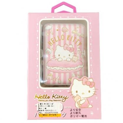 小禮堂 Hello Kitty 方形雙孔行動電源 隨身充 行動充 充電器 5000Ah (粉 直紋)