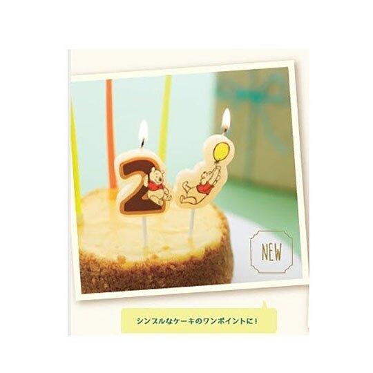 小禮堂 迪士尼 小熊維尼 造型生日蛋糕蠟燭 慶生蠟燭 派對蠟燭 (黃 汽球)