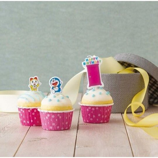 小禮堂 哆啦A夢 造型生日蛋糕蠟燭 慶生蠟燭 派對蠟燭 (3入 藍黃 任意門)