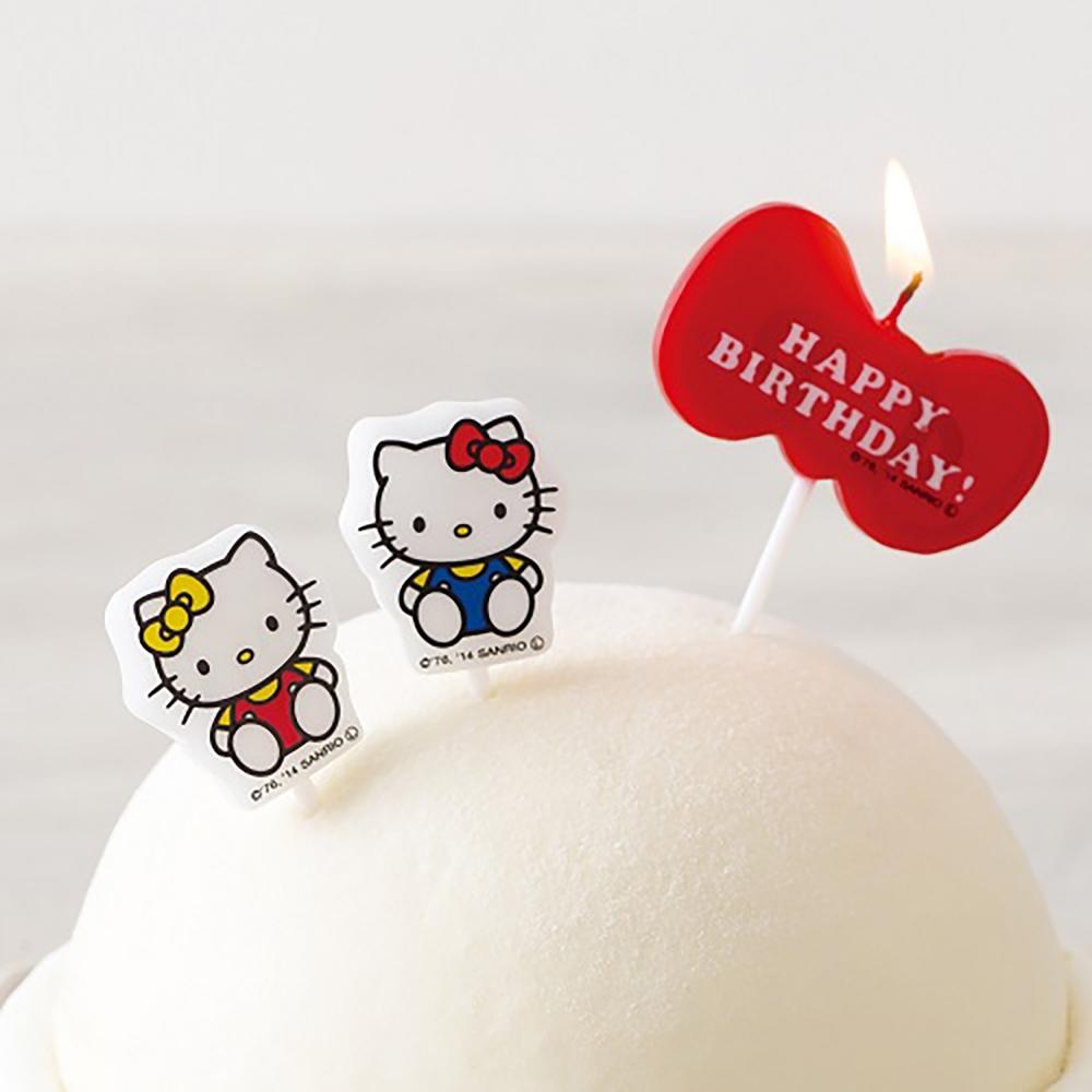 小禮堂 Hello Kitty 造型生日蛋糕蠟燭 慶生蠟燭 派對蠟燭 (3入 紅藍 mimmy)