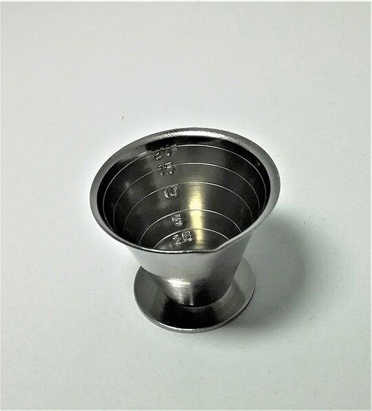 小禮堂 ECHO 日製 迷你不鏽鋼量杯 糖漿量杯 奶精量杯 調味匙 20ml (銀)