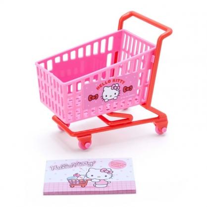 小禮堂 Hello Kitty 便條紙組 附小推車 備忘錄 文具盒 小物收納 (桃 超市文具)