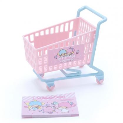 小禮堂 雙子星 便條紙組 附小推車 備忘錄 文具盒 小物收納 (粉綠 超市文具)