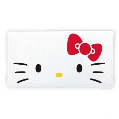 小禮堂 Hello Kitty 尼龍口罩包 口罩套 口罩夾 口罩收納 (白 大臉)