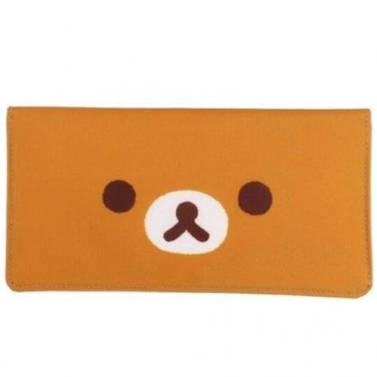 小禮堂 懶懶熊 尼龍口罩包 口罩套 口罩夾 口罩收納 (棕 大臉)