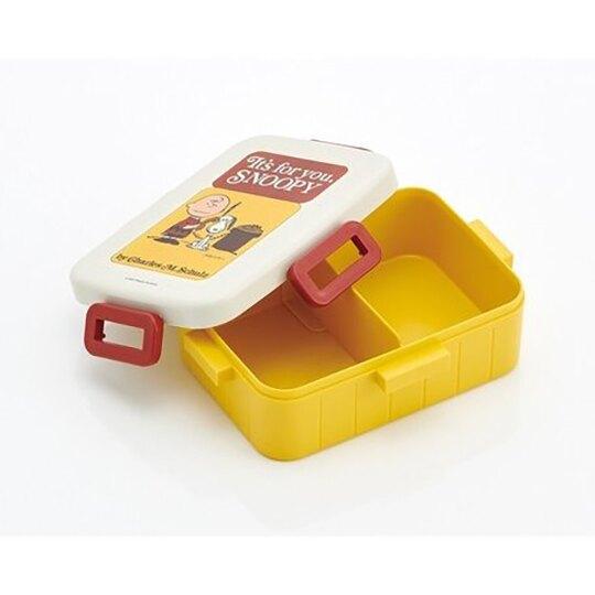 小禮堂 史努比 日製 方形四扣微波便當盒 塑膠便當盒 保鮮盒 650ml  (米紅 電話)