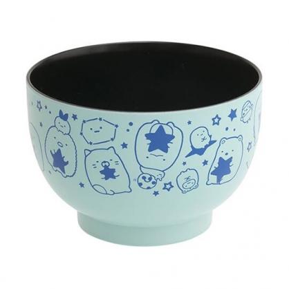 小禮堂 角落生物 日製 可微波塑膠碗 漆器碗 微波碗 飯碗 湯碗 (淡藍 星星)