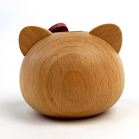 小禮堂 Hello Kitty 造型木質牙刷架 牙刷座 筆架 (棕 大臉)