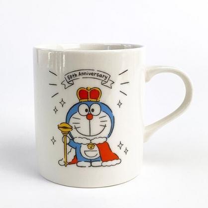 小禮堂 哆啦A夢 日製 陶瓷馬克杯 咖啡杯 陶瓷杯 (白 國王)