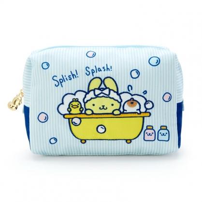 小禮堂 布丁狗 方形帆布化妝包 小物收納包 隨身收納包 (藍黃 牛奶泡泡浴)