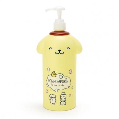 小禮堂 布丁狗 造型塑膠按壓式空瓶 沐浴乳罐 洗髮乳罐 乳液罐 600ml  (黃白 牛奶泡泡浴)