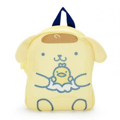 小禮堂 布丁狗 造型手提網狀洗衣袋 洗衣網袋 護洗袋 手提網袋 (黃藍 牛奶泡泡浴)