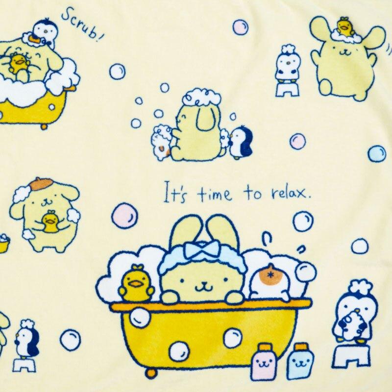小禮堂 布丁狗 純棉割絨浴巾 純棉浴巾 身體毛巾 60x120cm (黃藍 牛奶泡泡浴)