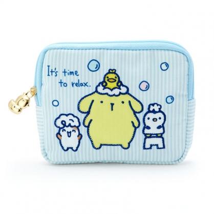 小禮堂 布丁狗 帆布面紙零錢包 隨身收納包 小物包 面紙包 (藍黃 牛奶泡泡浴)