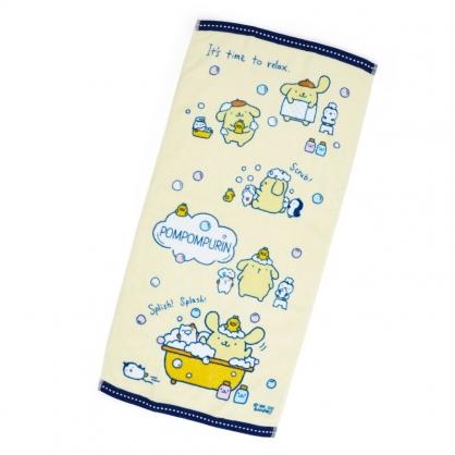 小禮堂 布丁狗 純棉割絨長毛巾 純棉毛巾 長巾  34x72cm (黃藍 牛奶泡泡浴)