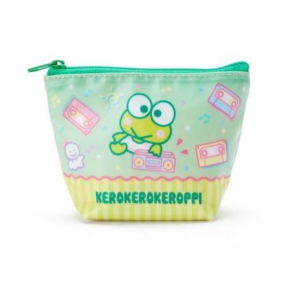 小禮堂 大眼蛙 船形尼龍零錢包 防水零錢包 小物包 耳機包 (綠黃 音響)