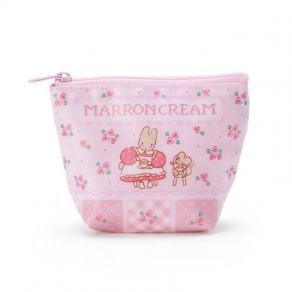 小禮堂 兔媽媽 船形尼龍零錢包 防水零錢包 小物包 耳機包 (粉 玫瑰)