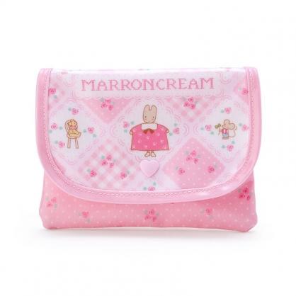 小禮堂 兔媽媽 掀蓋尼龍面紙零錢包 附面紙 防水零錢包 面紙包 (粉 玫瑰)