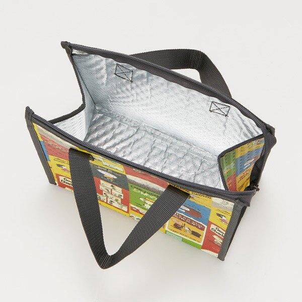 小禮堂 史努比 方形不織布保冷便當袋 保冷提袋 野餐袋 保冷袋 (黃綠 海報)