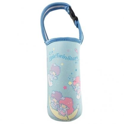 小禮堂 雙子星 潛水布水壺袋 環保杯袋 飲料杯袋 (藍 月亮)