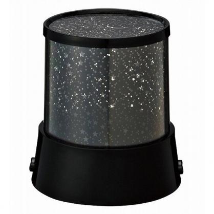 小禮堂 圓柱型LED變色投影燈 星空夜燈 小夜燈 夜光燈 裝飾燈 (黑)