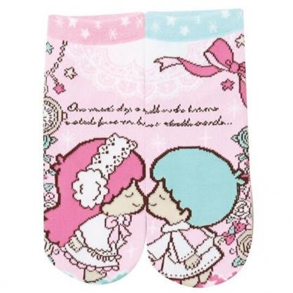 小禮堂 雙子星 成人短襪 隱形襪 及踝襪 船形襪 腳長22-24cm (粉 親親)