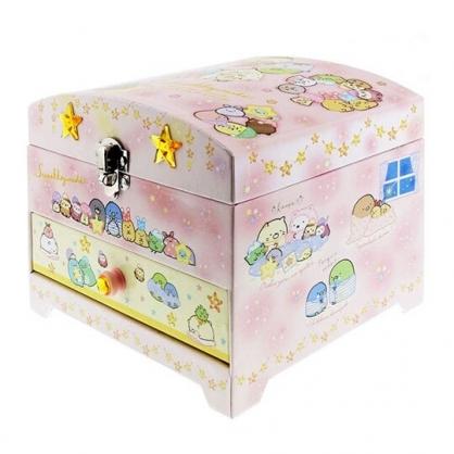 小禮堂 角落生物 造型橡皮印章組 附收納鏡盒 橡皮章 玩具章 印泥 抽屜盒 (粉)