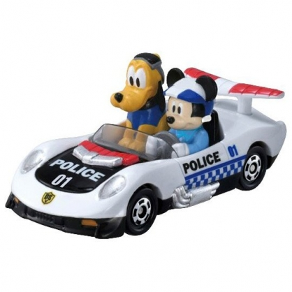 小禮堂 TOMICA多美小汽車 迪士尼 米奇妙妙車隊 敞篷警車 玩具車 模型車 (DS-01 黑白)