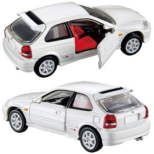 小禮堂 TOMICA多美小汽車 Honda civic type R 雙門跑車 玩具車 模型車 (37 白)