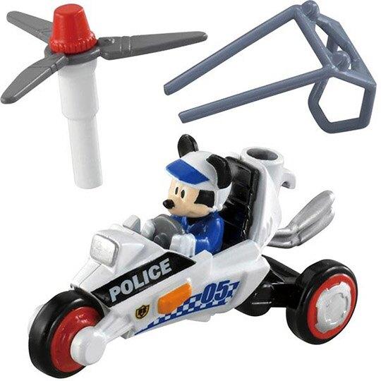 小禮堂 TOMICA多美小汽車 迪士尼 米奇妙妙車隊 三輪警車 玩具車 模型車 (DS-05 黑白)