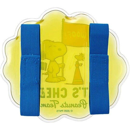 小禮堂 史努比 造型透明果凍顆粒保冷劑 保冰劑 冰敷袋 (黃 旗子)