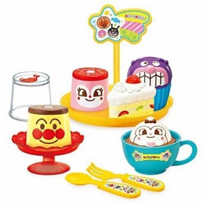小禮堂 麵包超人 布丁蛋糕點心玩具 下午茶玩具 扮家家酒 (橘紅 大臉)