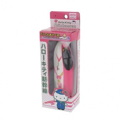 小禮堂 Hello Kitty 新幹線列車玩具 迴力車玩具 塑膠玩具 汽車玩具 (粉白)