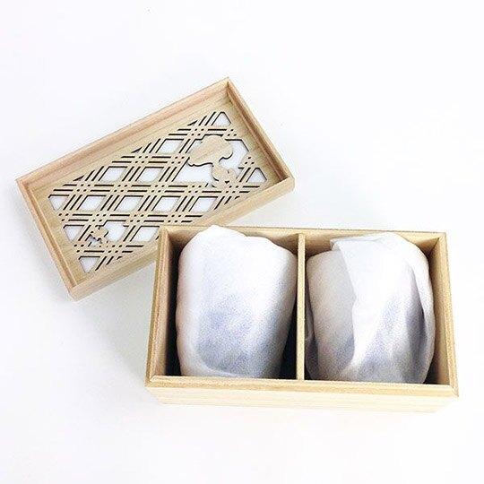 小禮堂 史努比 日製 無把玻璃杯組 附木盒 透明水杯 飲料杯 對杯 YAMAKA陶瓷 (2入 藍 海浪)