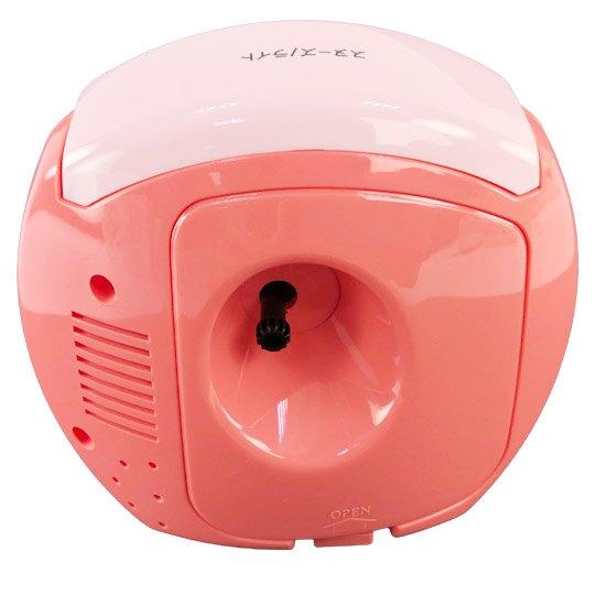小禮堂 角落生物 連續秒針圓形鬧鐘 塑膠時鐘 桌鐘 (紅白 草莓)