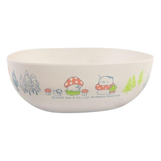 小禮堂 角落生物 三件式塑膠碗叉匙組 沙拉碗 湯叉 玉米餐具 環保餐具 (米綠 蘑菇)