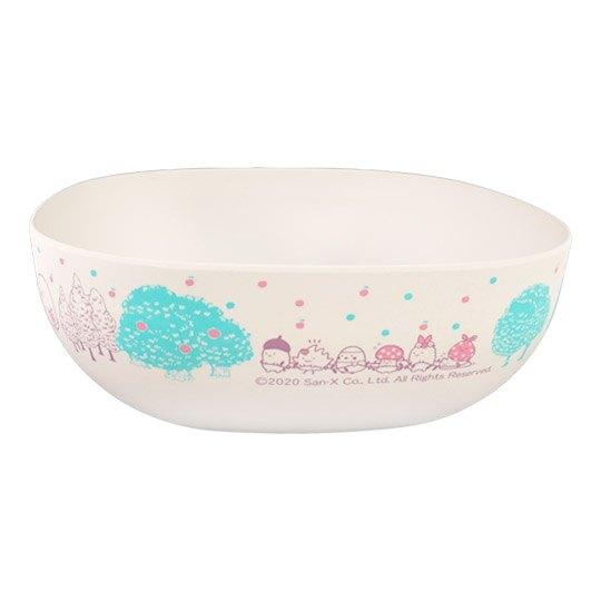 小禮堂 角落生物 三件式塑膠碗叉匙組 沙拉碗 湯叉 玉米餐具 環保餐具 (米藍 蘑菇)