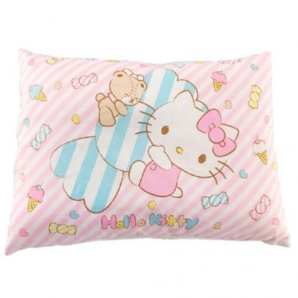 小禮堂 Hello Kitty 方形棉質嬰兒枕頭 兒童枕頭 定型枕 寶寶枕 午睡枕 (粉 糖果)
