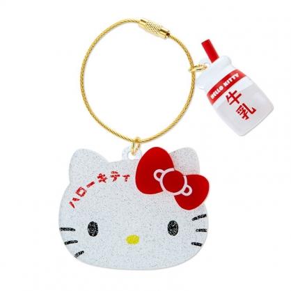 小禮堂 Hello Kitty 大臉造型壓克力鑰匙圈 壓克力吊飾 塑膠吊飾 (紅白 漢語字典)