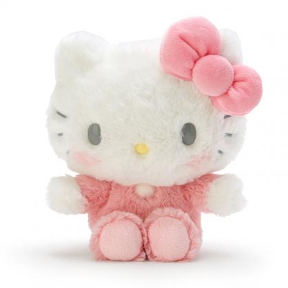 小禮堂 Hello Kitty 沙包玩偶 絨毛玩偶 沙包娃娃 布偶 (S 粉白 寶寶)