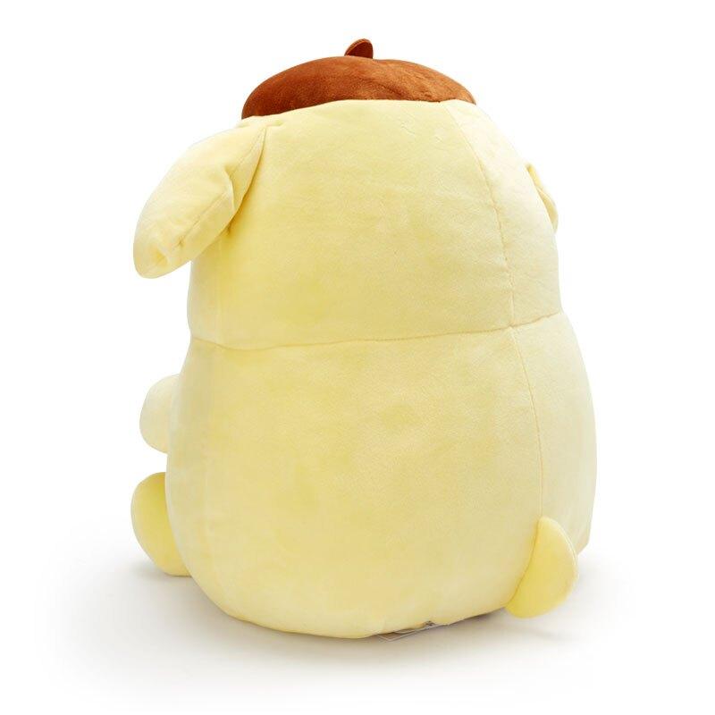小禮堂 布丁狗 造型絨毛抱枕 麻糬娃娃 絨毛靠枕 絨毛玩偶 (黃橘 抱星星)