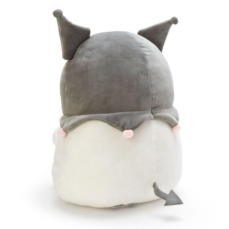 小禮堂 酷洛米 造型絨毛抱枕 麻糬娃娃 絨毛靠枕 絨毛玩偶 (灰紫 抱星星)