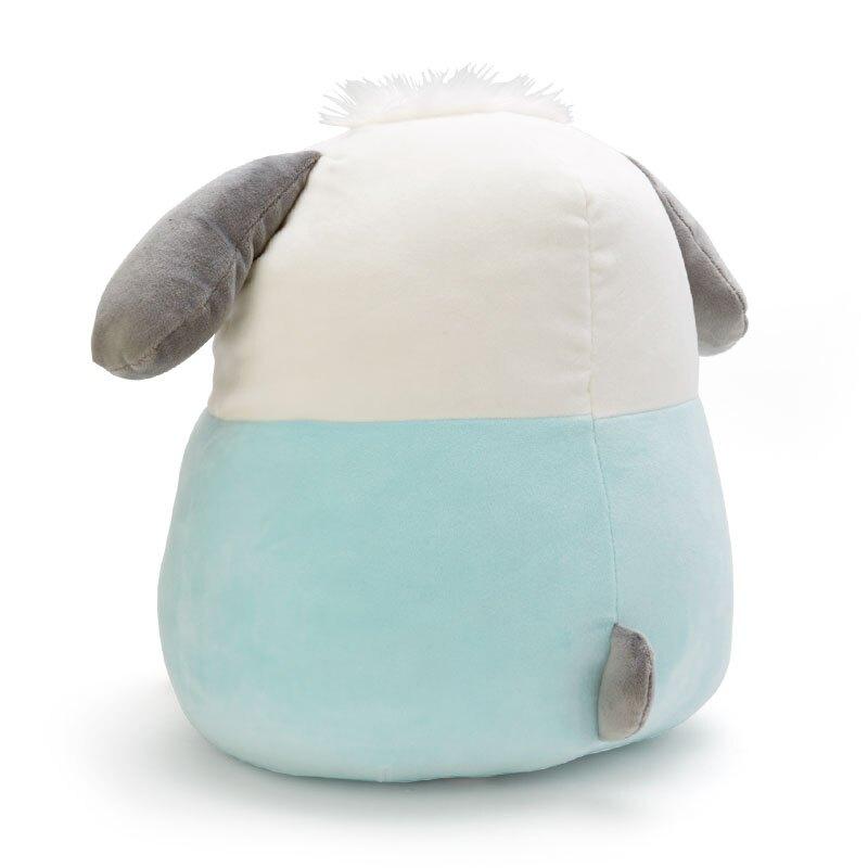 小禮堂 帕恰狗 造型絨毛抱枕 麻糬娃娃 絨毛靠枕 絨毛玩偶 (綠白 抱星星)