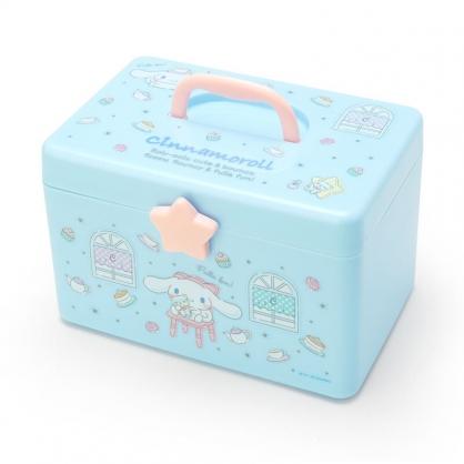 小禮堂 大耳狗 方形塑膠手提收納箱 工具箱 藥箱 針線箱 (藍粉 窗戶)